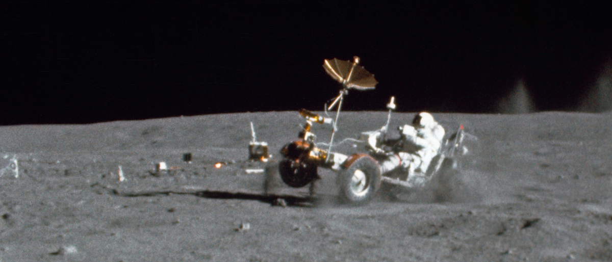 Luna rover on the moon